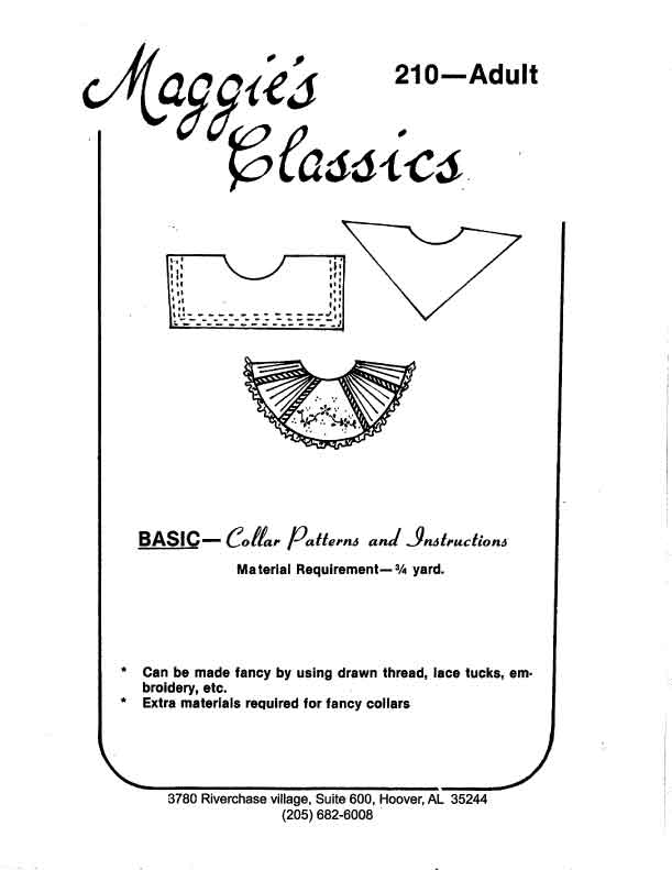 Basic Set of Collars, Adult