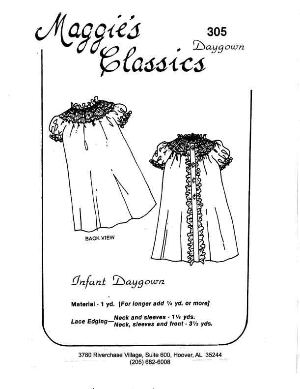 Bishop Daygown Button Front