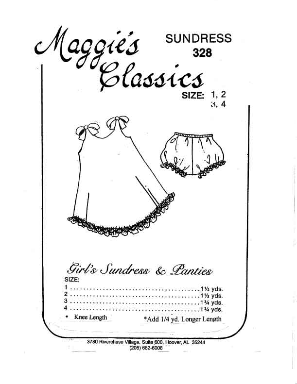A-Line Sundress w/ Ties, Panties