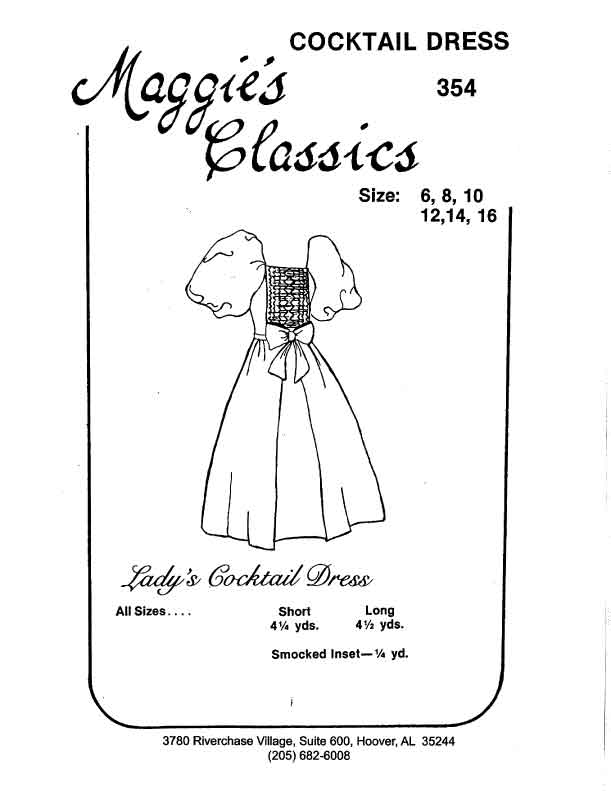 Ladies Balloon Sleeve Smocked Dress