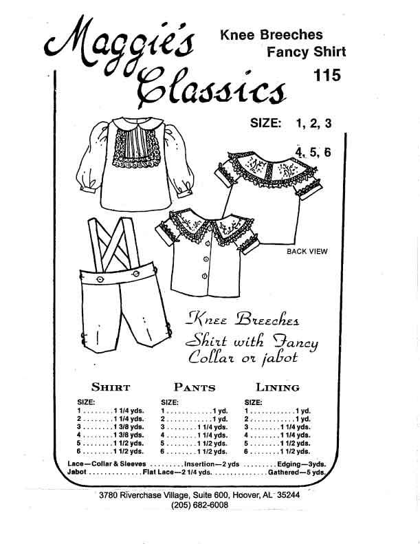 Boy's Knee Britches & Fancy Shirt