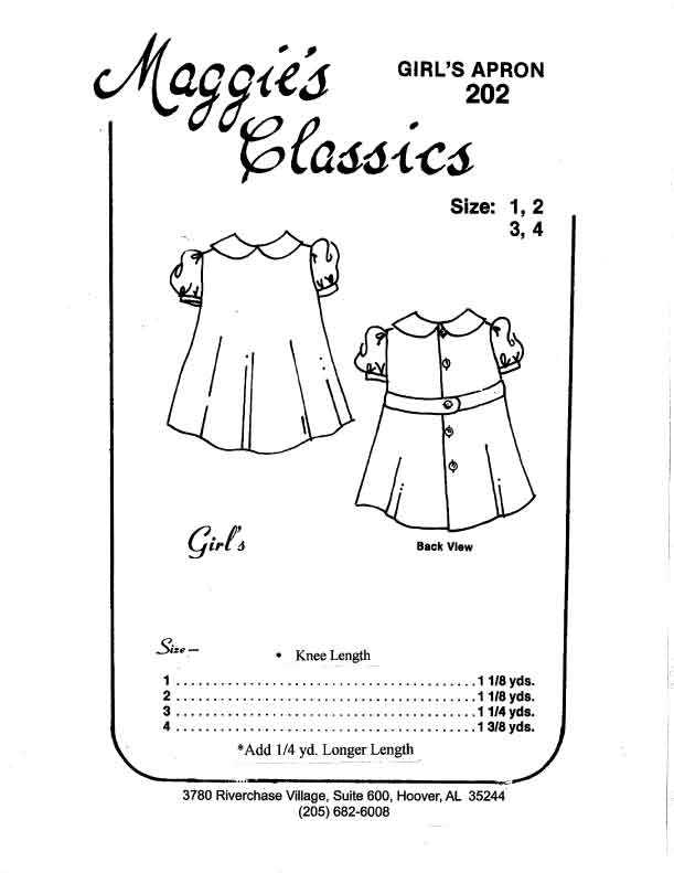 Girl's Apron Dress
