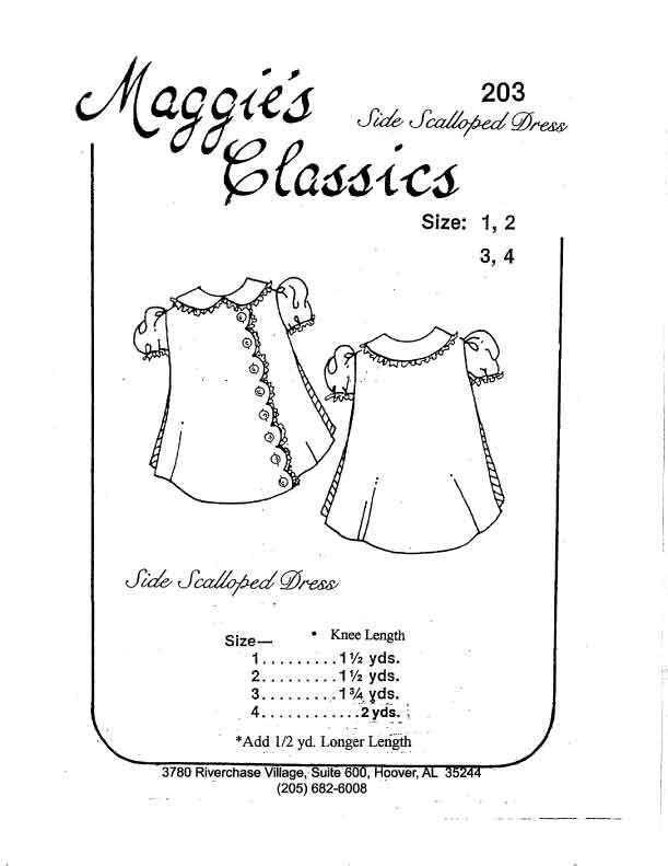 Side Scalloped Dress