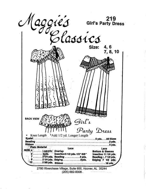 Girl's Party Dress, Crisscross Yoke
