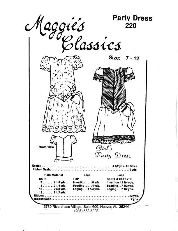 Girl's Party Dress, Drop Waist