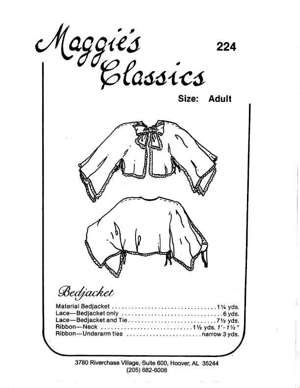Ladies Bed Jacket