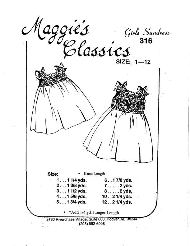 Smocked Sundress and Gown w/ Ties
