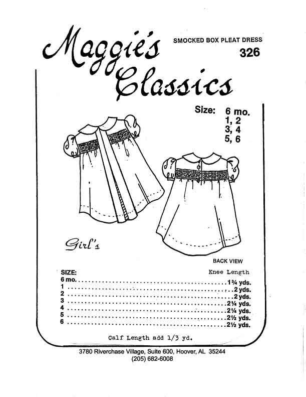 Girl's Pleated and Smocked Yoke Dress