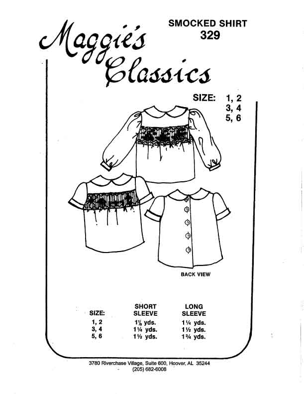 Boy's or Girl's Smocked Shirts