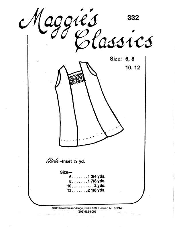 Girl's Smocked Panel A-Line Dress