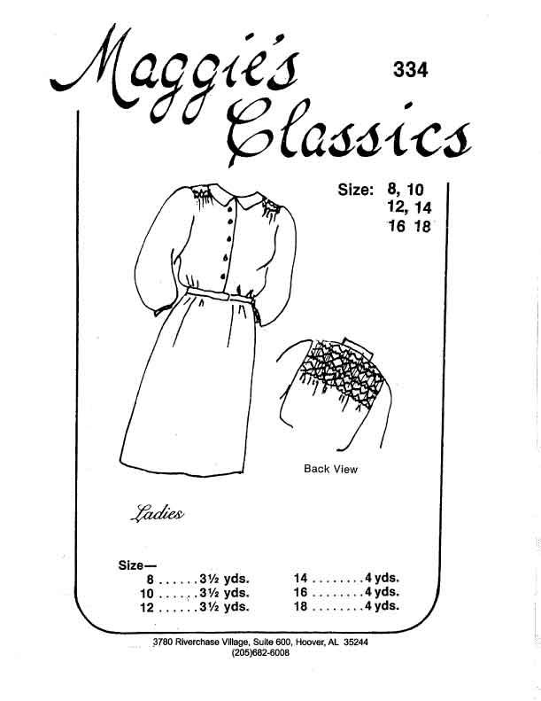Ladies Smocked Shirtdress