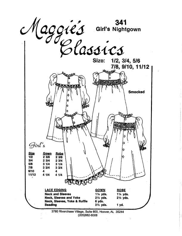 Girl's Yoked Nightgown and Robe