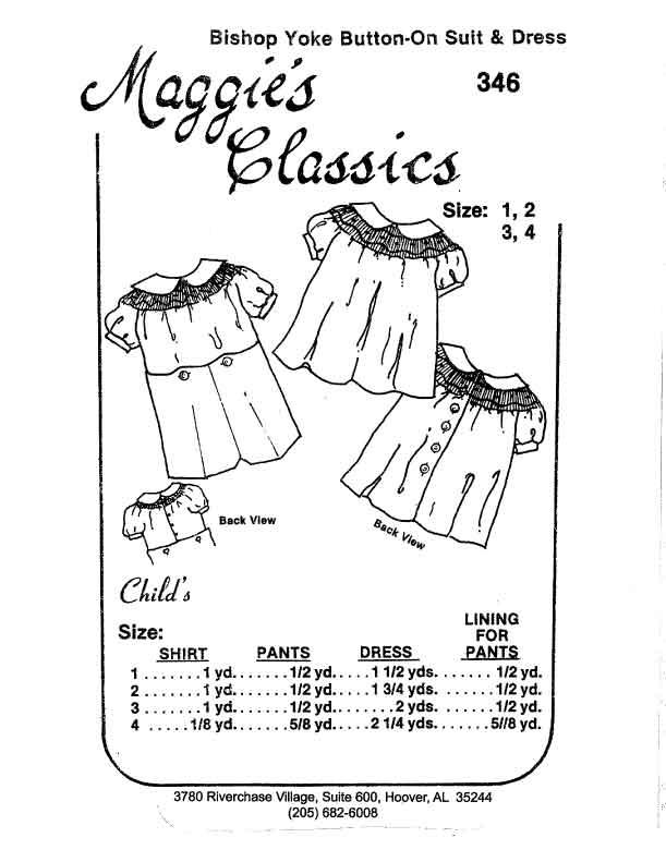 Boy's Button-on Bishop/Girl's Dress