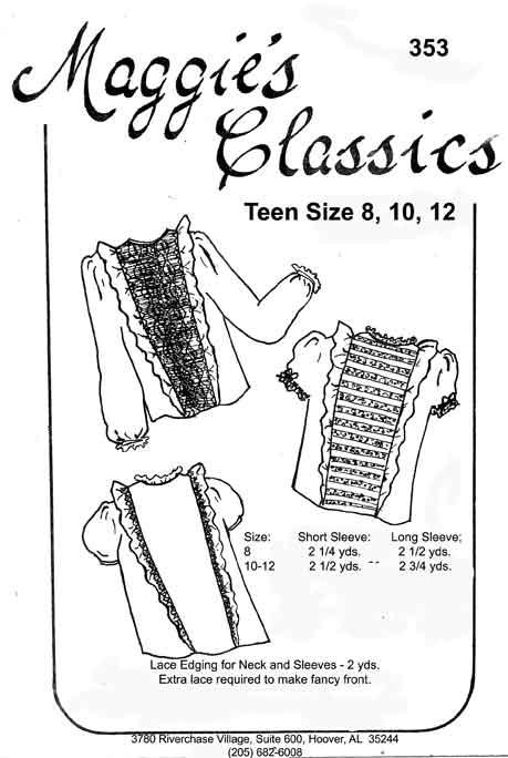 Teen's Panel Blouse
