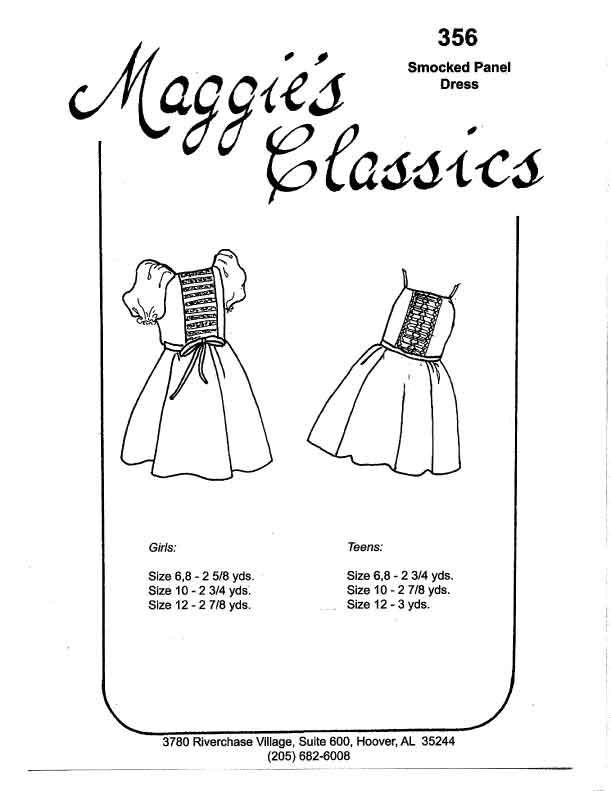 Girl's Smocked Panel Waisted Dress