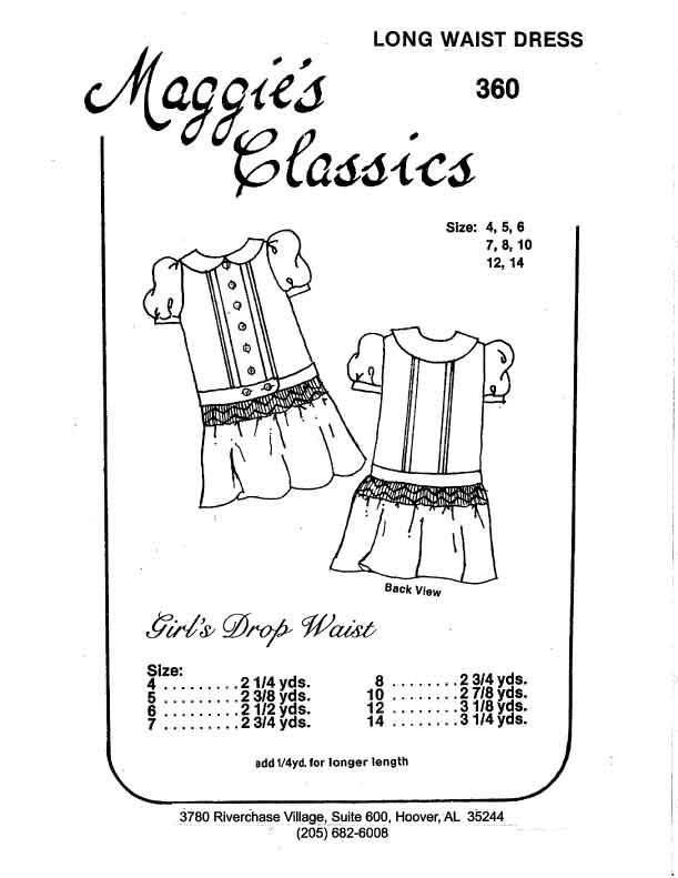 Girl's Smocked Below Low Waist Dress